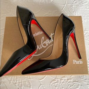Christian Louboutin So Kate Black Patent 120mm